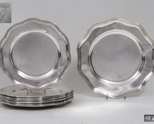 antique silver dinner plates