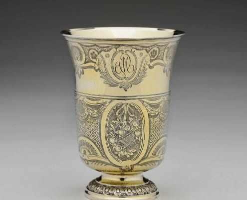 Beaker silver gilt, Paris 18th century
