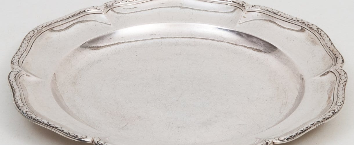 serving plates silver, French 18th c.