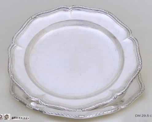 serving plates silver, 18th c.