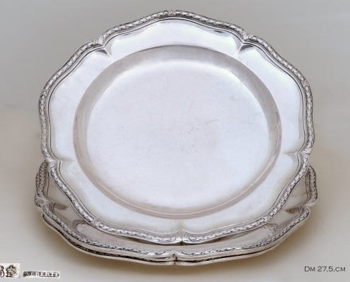 antique silver dinner plates, French