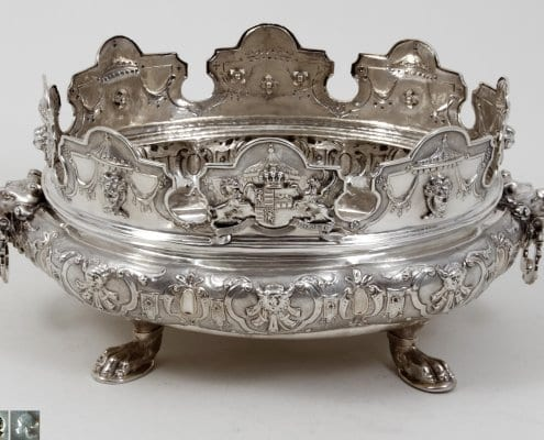 silver monteith bowl, Augsburg 18th century