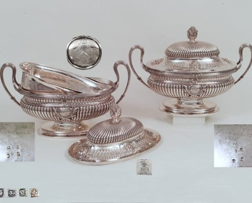 George III silver tureens, Egremont
