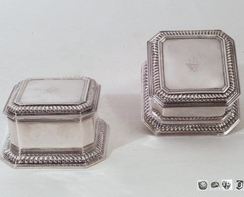 antique silver boxes, Huguenot Silver