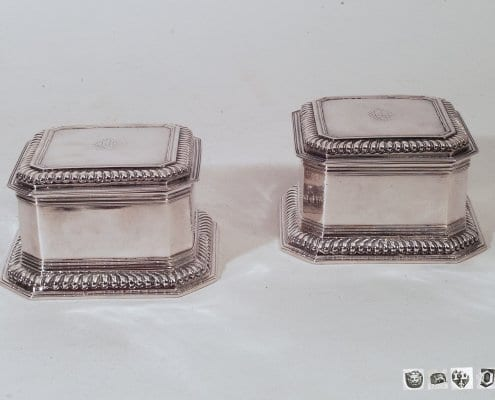 Queen Anne silver boxes, London