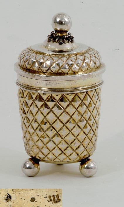 silver-gilt beaker and cover, 17th century