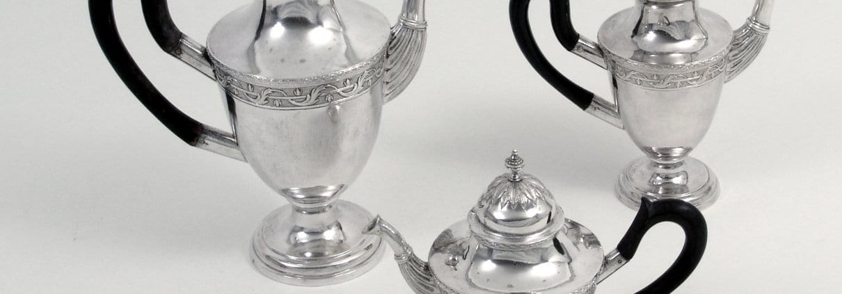 neoclassical silver coffee and tea service, Thurn and Taxis collection