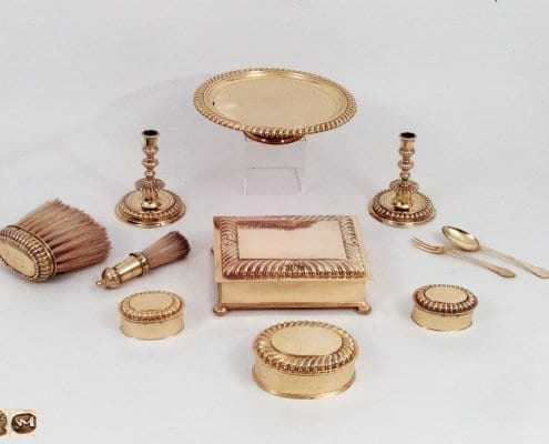 silver gilt toilette set, Augsburg 18th c.