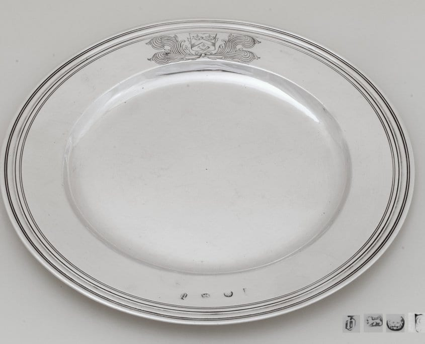 james II antique silver plate