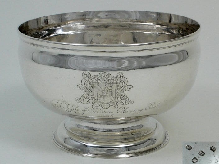 george II Silver punch bowl
