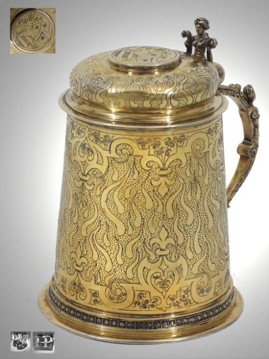 Silver Gilt Tankard German, 16th century