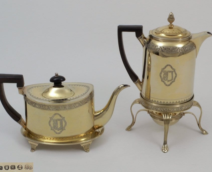 silver gilt George iii tea-pot