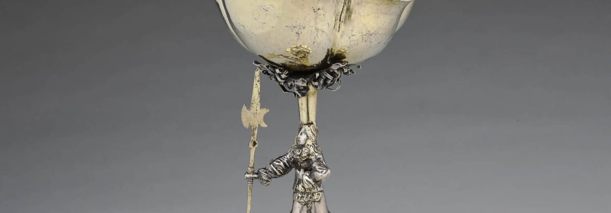 Standing cup silver gilt,17th century