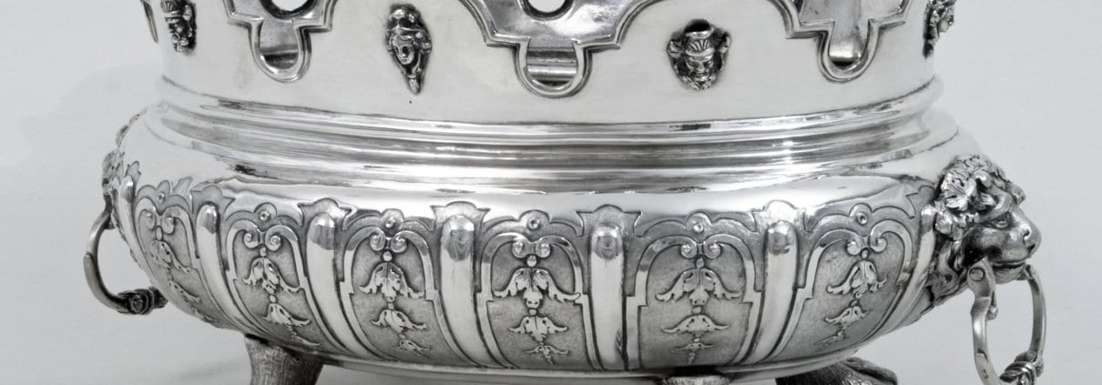 Silver monteith bowl, 18th century