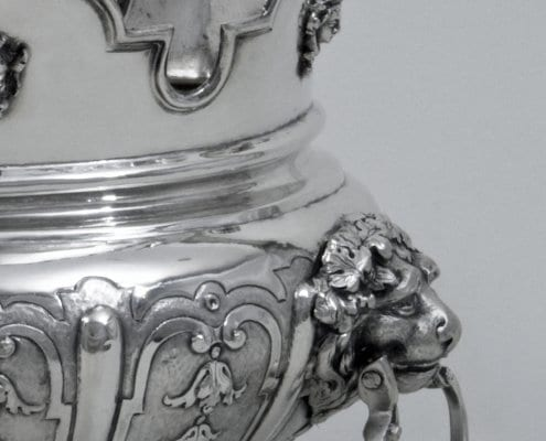 silver monteith bowl, Augsburg 18th c.