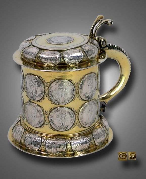 Antique silver tankard, Germany 17th century