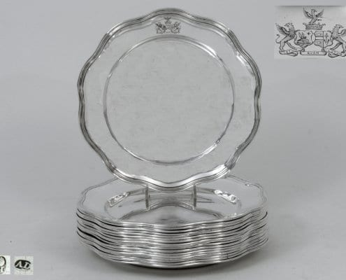 silver dinner-plates, German 18th c.