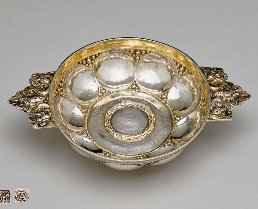 Drinking bowl, Silver partly-gilt, Brig 1664, Anton Tuffitscher