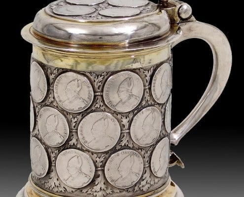 Silver Parcel-Gilt Tankard with Coins, Berlin 17th century