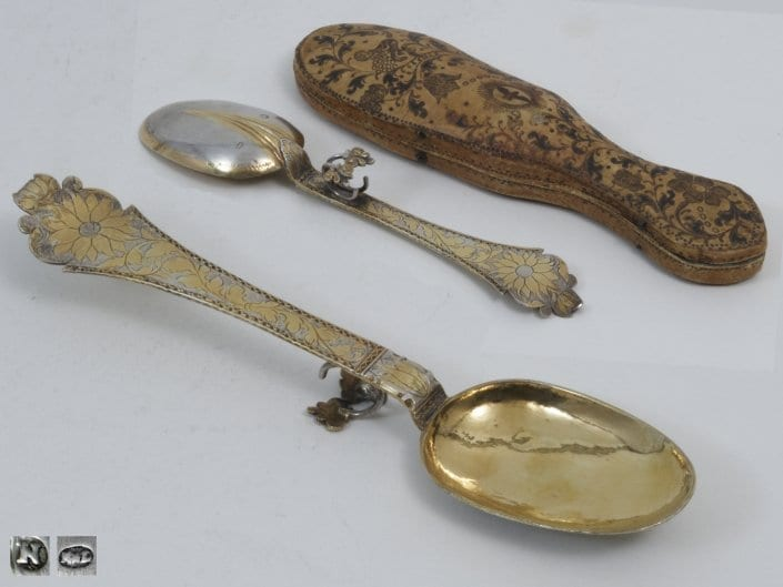 Silver-gilt christening spoon, Baroque