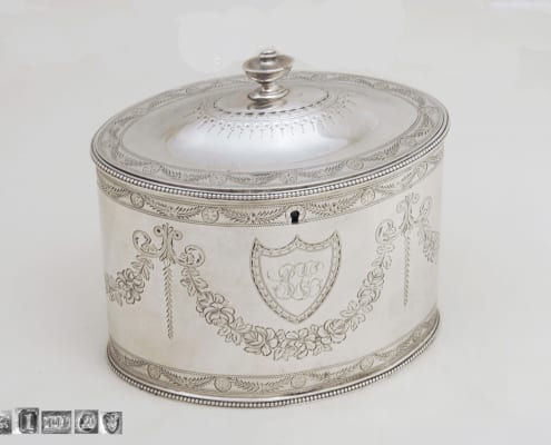 George III Tea Caddy, Silver