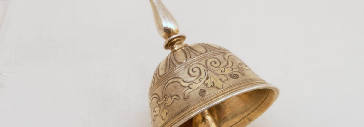 Silver gilt table bell antique