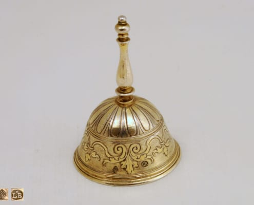 silver table bell, 18th c.