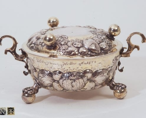 silver two-handled bowl and cover, Nuremberg 17th c.