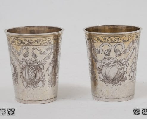 Silver baroque beakers, Baroque Hamburg