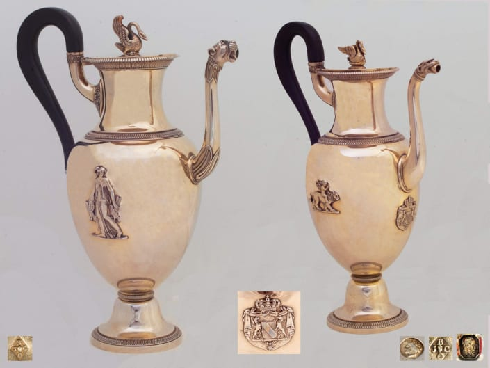 French Empire silver-gilt coffee-pots